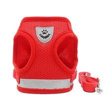 Светоотражающая Защитная шлейка для собак и поводок жилет маленьких