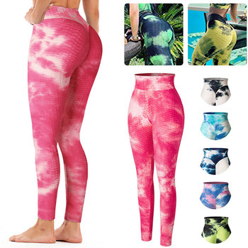 High Waist Ruched Butt Lifting Leggings Women Tie-Dye Workout Legging Stretchy Booty Enhancing Textured Fitness Push Up Pants women plus size camouflage print workout shorts high waist compression leggings ruched butt lifting fitness running hot