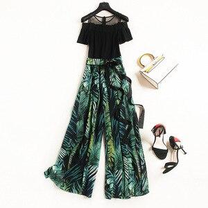 Женское шифоновое платье с бантом на воротнике, кружевное платье А-силуэта свободного покроя и брюки размера плюс, весна-лето 2020