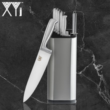 XYJ Cooking Knife Set Stainless Steel Chef Knife Japan & 8 inch Multi-purpose Knive Holder & Sharpener 8-piece Set Kitchen Tools(China)