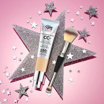 Full coverage CC cream Sunscreen Face Concealer SPF 50 + Allover makeup brush No.7