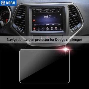 Image 2 - MOPAI Auto Aufkleber für Dodge Challenger 8,4 Zoll Auto GPS Navigation Display schutzfolie für Dodge Challenger Auto Zubehör