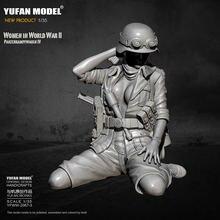Модель 1/35 yufan смоляная модель танк солдат красота самособранная