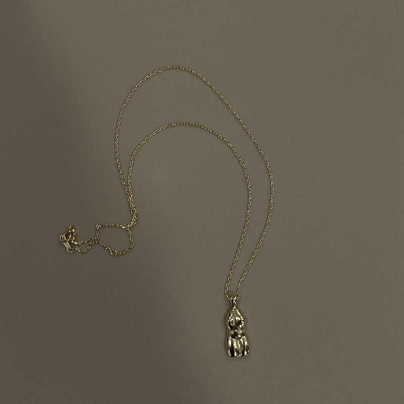 Louleur מופשטת המערבית אדם גוף שרשרת שיק 925 סטרלינג כסף קטן תליון שרשרת לנשים חדש תכשיטים מתנות