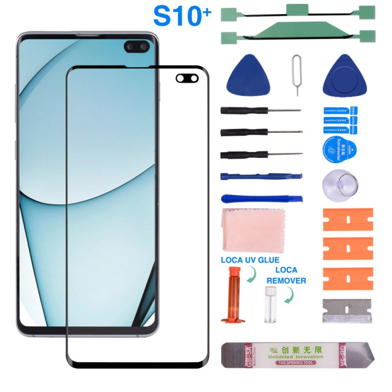Hardcover Front Glass <font><b>Screen</b></font> With Replacement Repair Kit For <font><b>Samsung</b></font> Galaxy S8/S8Plus/<font><b>S9</b></font>/S9Plus/S10/S10Plus image