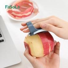 FaSoLa Two Finger Use Vegetable Fruit Cutter Multi-function Peeler Apple Grinder Potato Carrot Grater Planer Kitchen Tools