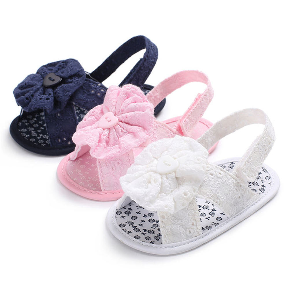 Baby Girl Sandals New Cotton Soft Sole Embroidery Flower Purple First Walkers Summer Baby Infant Toddler Shoes