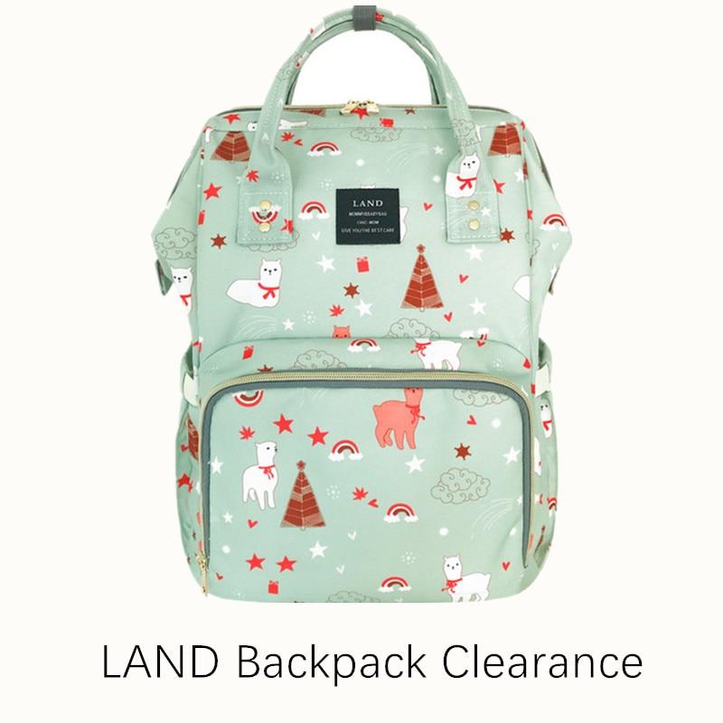 Clearance Original LAND Diaper Bag Large Capacity Nappy Bags Nursing Bag Fashion Travel Backpack Mommy Daddy Bebek Bag