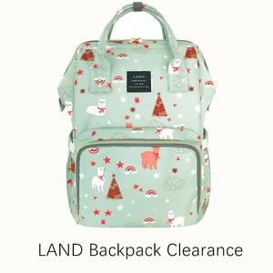 Image 1 - Clearance Original LAND Diaper Bag Large Capacity Nappy Bags Nursing Bag Fashion Travel Backpack Mommy Daddy Bebek Bag