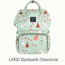 Wyprzedaż oryginalna torba na pieluchy lądowe o dużej pojemności torby na pieluchy torba na pieluchy moda podróżna plecak torba Mommy Daddy Bebek