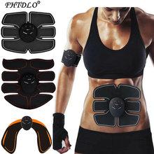 Stimulateur musculaire sans fil EMS, entraîneur intelligent d'entraînement Abdominal, autocollants amincissants électriques, masseur amincissant pour le corps