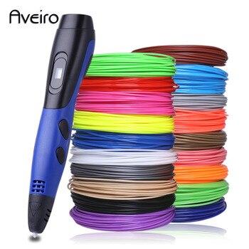 Juego de manillas 3d con filamento de abs para niños, set de bolígrafos con mango 3d de filamento de abs, originales, USB, caneta 3d, lapiz, herramienta de dibujo para niños, regalos de navidad