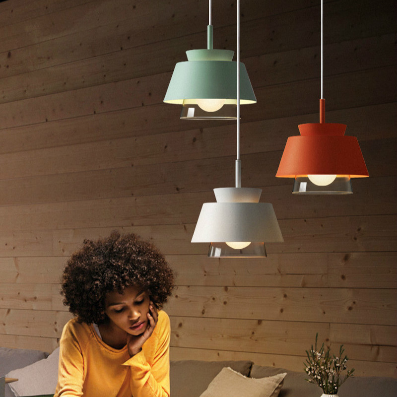 Nordic Creative Glass Pendant Light Modern Simple Hanging Lights Aisle Restaurant Cafe Bar Art Iron Decor Led Dining Room Lights