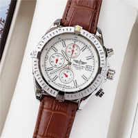 Nuevo reloj de pulsera mecánico Breitling de marca de lujo para hombre reloj de cuarzo con correa de acero inoxidable relojes para hombre automático