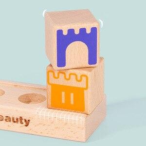 Image 4 - Montessori Camelot Jr Houten Bouwstenen Speelgoed Prince Besparen De Prinses Interactieve Spelletjes Voor Kinderen 3d Blokken Kerstcadeaus