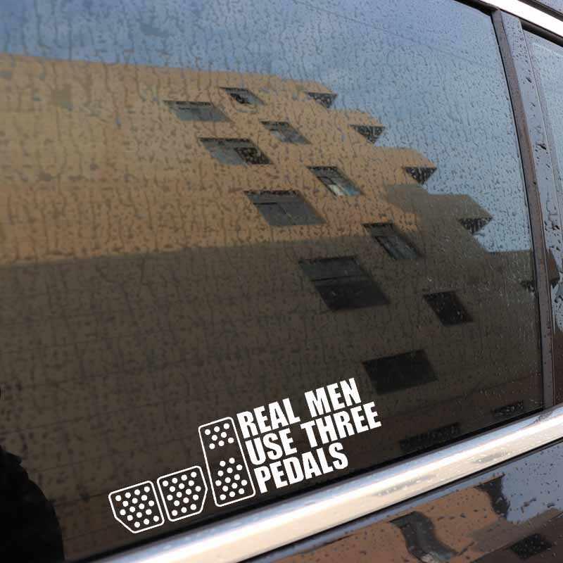 Aliauto pegatina a la moda para coche Real los hombres usan tres pedales deriva carreras embrague vinilo para W211 Mazda Cx 5 Gti Vw Golf 5,20cm * 6cm