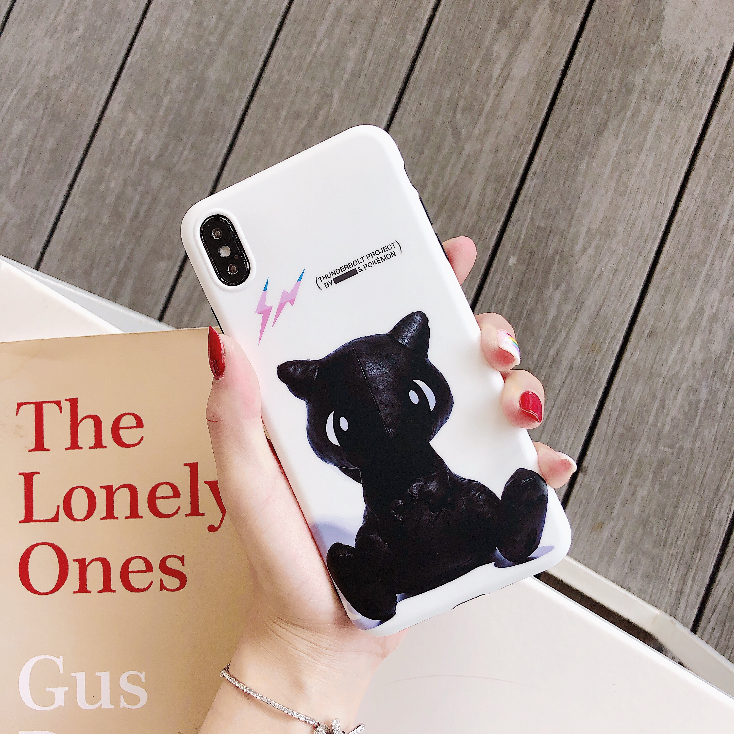 Luxury Fragment Design X Pokemons Mew Phone Case Cute for iPhone 6 6s 7 8 Plus X XS XR XSMax Soft Cover in Half wrapped Cases from Cellphones Telecommunications