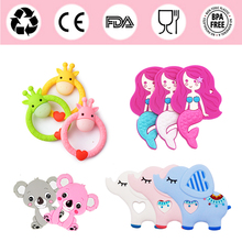 Silicone Teethers for Baby BPA Free Toddle Teething Toys Safe Cute Animal Beauty Beauty