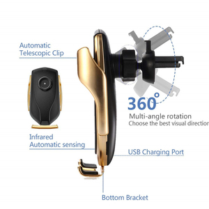 Image 3 - Automatyczne mocowanie uchwyt samochodowy telefon bezprzewodowa ładowarka 10W szybkie ładowanie dla iPhone 11 Pro XR XS 8 Huawei P30 Pro Qi stojak na telefon