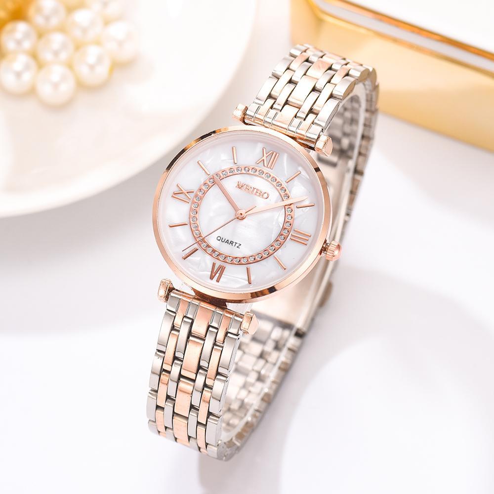 Luxury Crystal Women Bracelet Watches Top Brand Fashion Diamond Ladies Quartz Watch Steel Female Wristwatch Montre Femme Relogio 3