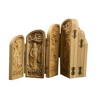 Acht Unsterblichen Folding box Holz Skulptur Feng Shui vintage Chinesische Weihnachten geschenk spezielle holz handgemachte dekoration zubehör