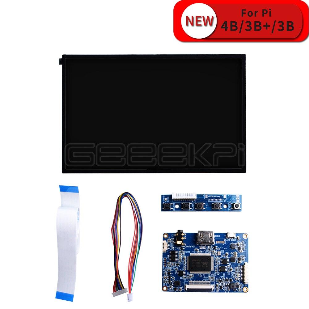 GeeekPi 10.1 pouces 1280*800 LCD kit de bricolage écran HDMI moniteur TFT LCD 5V 1A pour framboise Pi 4 B tous les modèles