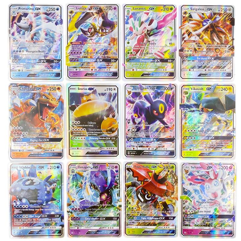 TOMY 300 Pcs Pokemon Cards GX , Playing Game TAKARA TOMY Battle Carte Trading Cards Game Children Toy