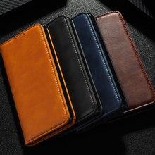 Telefon Fall für Xiaomi Redmi Hinweis 9 Pro Fall Rindsleder PU Leder Magnetischen Flip Buch Abdeckung für Redmi Hinweis 9 pro Max 9s 9C 9A 8T 8
