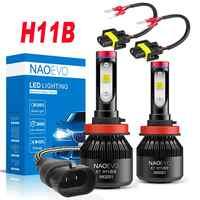 NAO-bombilla LED H11B para faro delantero de coche de 30W, 6400Lm, H11B, 12V, 2011 K, alta calidad