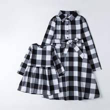 Family Matching Dresses Christmas-Dress Outfits-Look Baby-Girls Mommy Me And Woman Spring