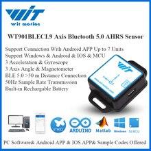 WitMotion Bluetooth BLE 5.0 düşük tüketimi 50m WT901BLECL 9 eksen sensörü açı + hızlanma Gyro + Magnetometer için PC/Android