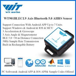 Image 1 - WitMotion Sensor de ángulo de 9 ejes para ordenador y Android, dispositivo de bajo consumo con Bluetooth BLE 5,0, 50m, WT901BLECL, giroscopio de aceleración y magnetómetro