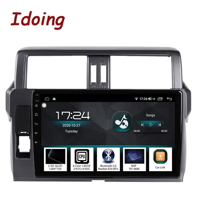"""Idoing 10.2 """"2.5D 4G + 64G Android araç radyo multimedya GPS oynatıcı Toyota LAND CRUISER PRADO için 150 2013 2017 DSP hiçbir 2DIN DVD"""