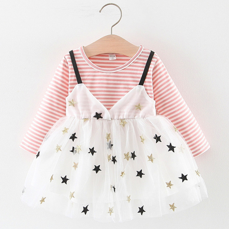 fashion toddler <font><b>baby</b></font> <font><b>girl</b></font> <font><b>dress</b></font> long sleeve pink vestido Infantil princess party and wedding tutu <font><b>dress</b></font> spring autumn <font><b>3</b></font> <font><b>years</b></font> image
