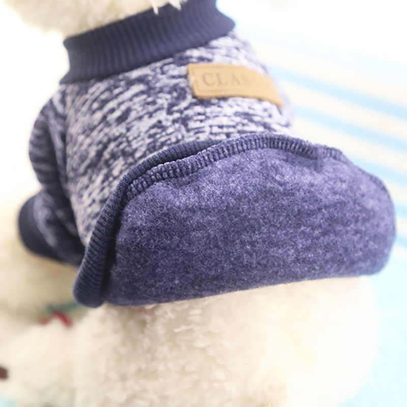 Autumn Winter Warm Dog Clothes For Small Medium Soft Dog Sweater Clothing Winter Chihuahua Clothes Classic Pet dog accessories (3)