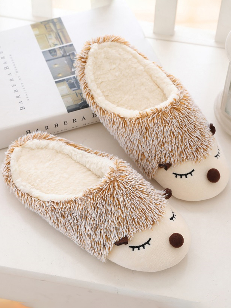 Color Plush Slippers Women Home Floor Cotton Slippers Warm Autumn Winter Ladies Slippers for Home Casual Indoor Shoes VT1304 (2)