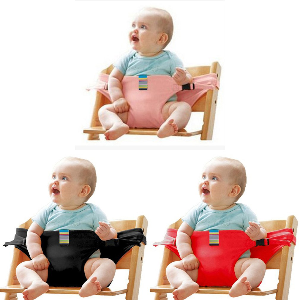 New Baby Dining Chair Safety Belt Portable Seat Lunch Chair Seat Stretch  Wrap Feeding Chair Harness baby Booster Seat