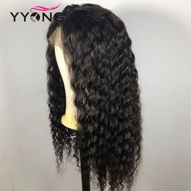 YYong 5x5 6x6 malezyjski woda koronkowa fala zamknięcie peruki wstępnie oskubane Hairline z dzieckiem włosy Remy 100% ludzki włos peruka 120% gęstość