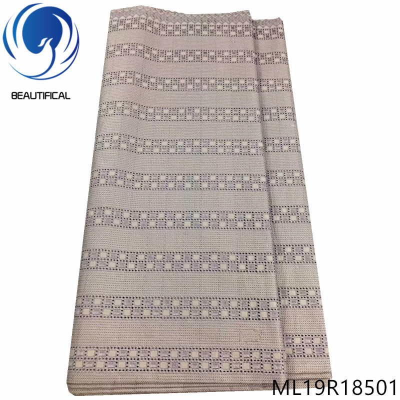 BEAUTIFICAL  Cotton swiss lace fabrics High quality 5yarda cotton polish lace fabric for men clothes swiss voile lace ML19R185