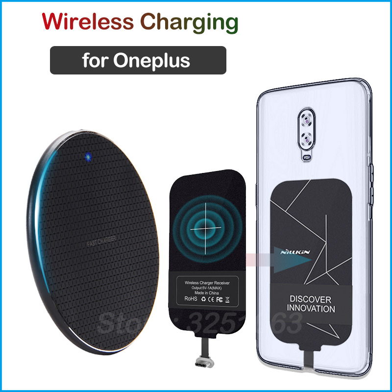 Qi Wireless Charging for Oneplus 3 3T <font><b>5</b></font> 5T 6 6T 7 7T Pro Wireless <font><b>Charger</b></font>+Charging Receiver <font><b>USB</b></font> Type-C Adapter image