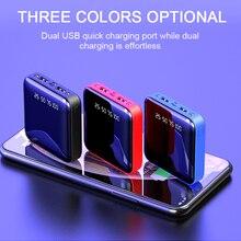 Мини внешний аккумулятор, портативный для iPhone, samsung, Xiao Mi, внешний аккумулятор, 10000 мА/ч, зарядное устройство, два порта Usb, аккумулятор, внешний аккумулятор