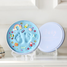 Infant Baby Boy Girl HandPrint Footprint Imprint Kit Baby Mud Footprint Baby Souvenirs Newborn Hand Foot Mold Hundred Days Gift
