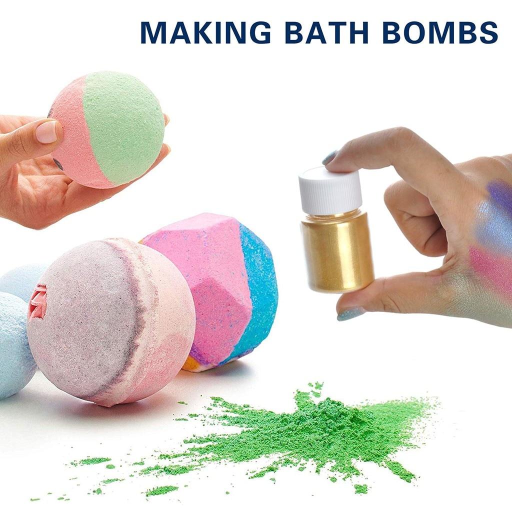 Slime Powder DIY Mica Powder Natural Powder Pigments For Adhesive Pigments Bath Natural Fluffy Glitte Powder Girls Gift Kid