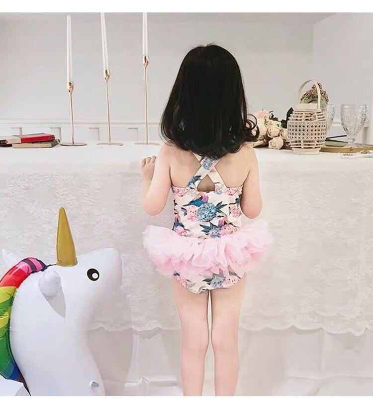 KID'S Swimwear Women's 2020ins Girls Siamese Swimsuit South Korea Cute Baby Ballet Tulle Skirt CHILDREN'S Swimsuit