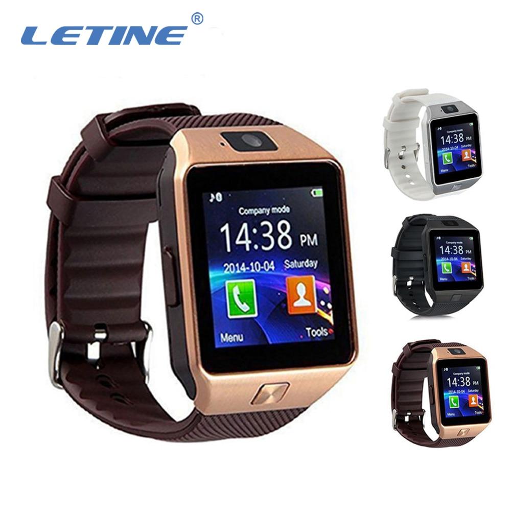 LETINE DZ09 DZ 09 男性スマート腕時計の電話ウェアラブルデバイススマートウォッチ bluetooth 接続 Android apple の iphone Amazfit PK GT08 a1