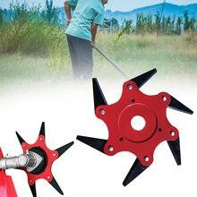 6T Grass Trimmer Head Brush Cutter Blade Manganese Steel Mower Garden Lawn Machine Accessories Garden Power Tool Dropshipping