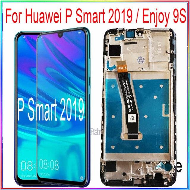 Tela lcd huawei p smart 2019, peças de reposição para montagem com touch