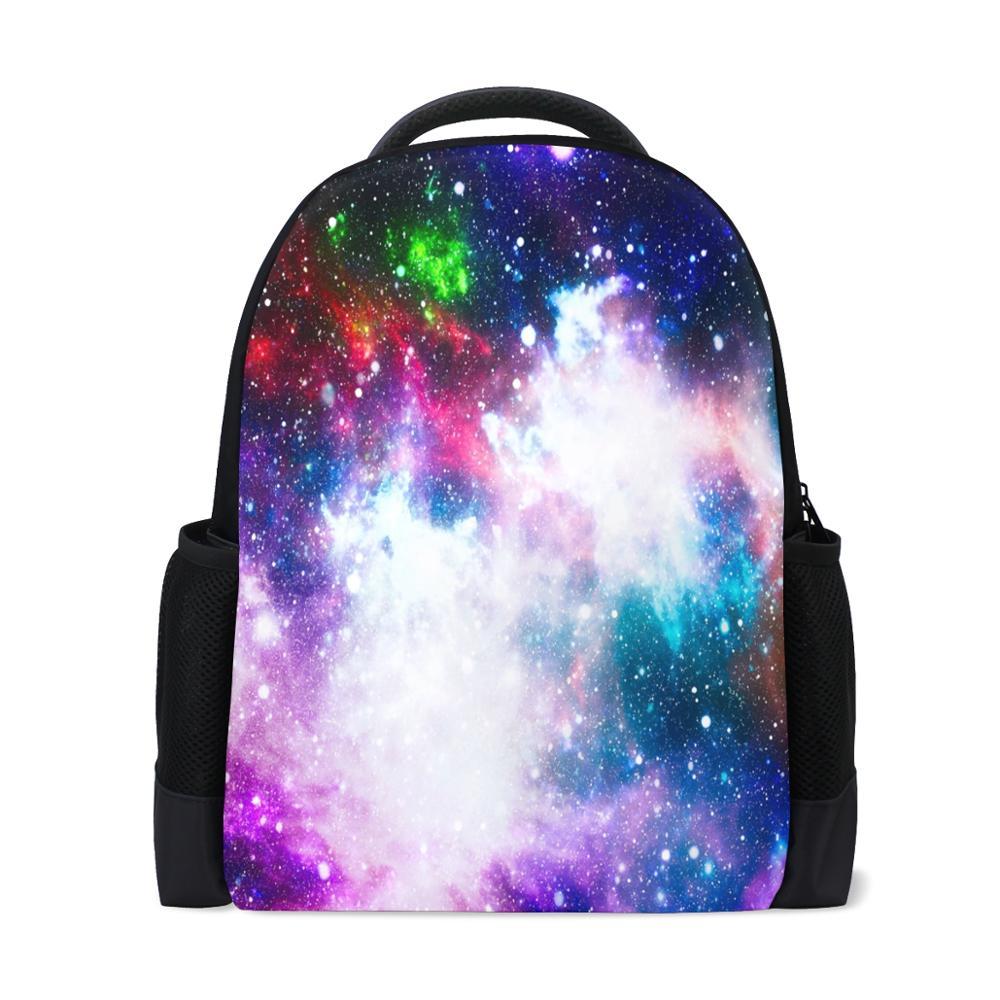 ALAZA nouveau sac à dos adolescent ciel étoilé impression grand espace Polyester pochette d'ordinateur école voyage sac à bandoulière personnalisé votre conception