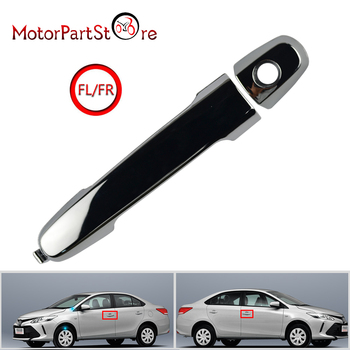 New Plastic ABS FL FR Handle Outer Door Chrome For Toyota Vigo Vios Altis Camry 2008-2011 High Quality image