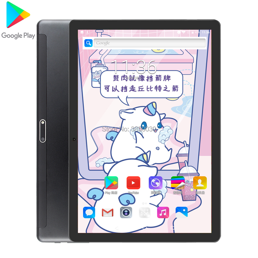 2020 Android 9.0 10 Inch Quad Core Tablet 3G 4G LTE Phone Call Tablet 32GB ROM Dual SIM  Bluetooth Wifi GPS Tablets 10